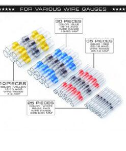 waterproof wire connectors, Waterproof Solder Wire Connectors 100pcs
