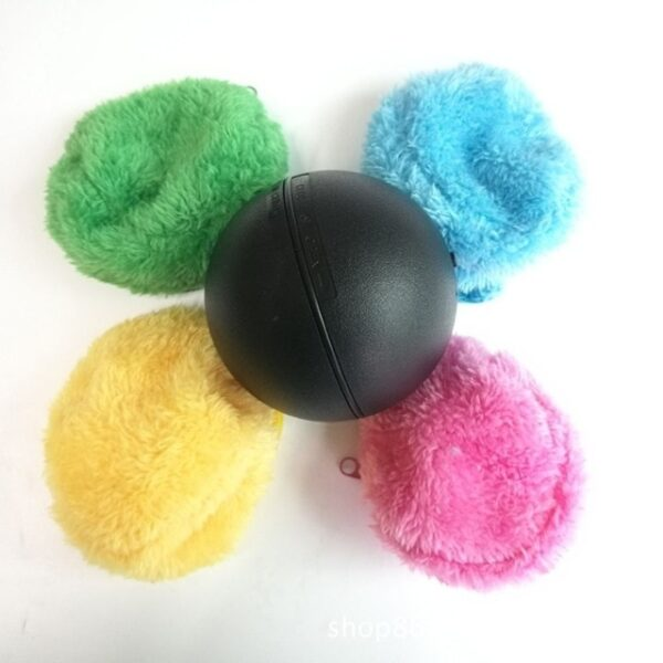 1 Set Automatic Rolling Vacuum Floor Sweeping Robot Cleaner Microfiber Ball Cleaning With 4Pcs Colorful