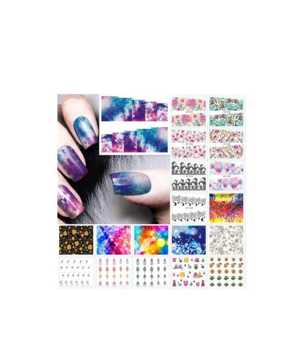 1pc Nail Sticker Water Transfer Decals Galaxy Starry Sky Watermark Slider Gel Nail Art Decoration Manicure 2 1