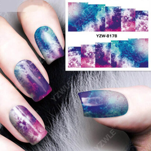 1pc Nail Sticker Water Transfer Decals Galaxy Starry Sky Watermark Slider Gel Nail Art Decoration Manicure 6 1.jpg 640x640 6 1