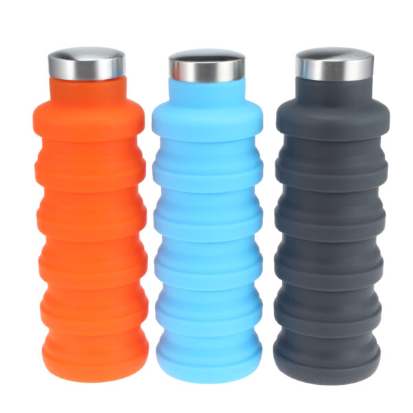 500ML Portable Silicone Water Bottle Retractable Folding Coffee Bottle Outdoor Travel Drinking Collapsible Sport Drink Kettle 2