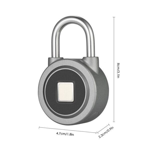 Fingerprint Smart Keyless Lock Waterproof APP Button Password Unlock Anti Theft Padlock Door Lock for Android 2