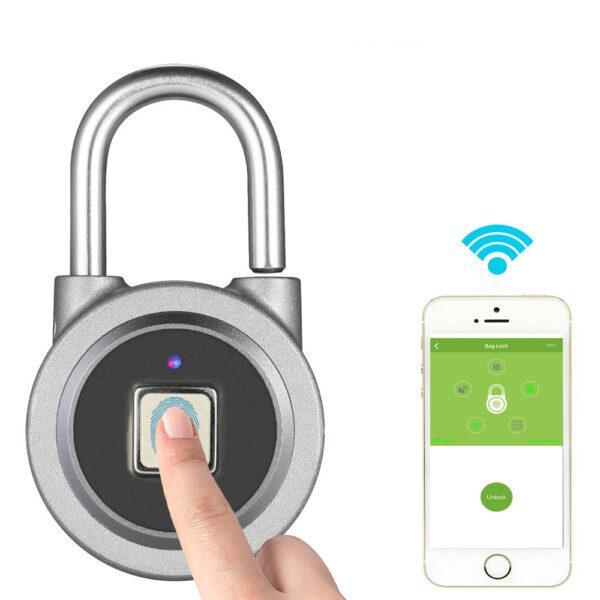 Fingerprint Smart Keyless Lock Waterproof APP Button Password Unlock Anti Theft Padlock Door Lock for Android