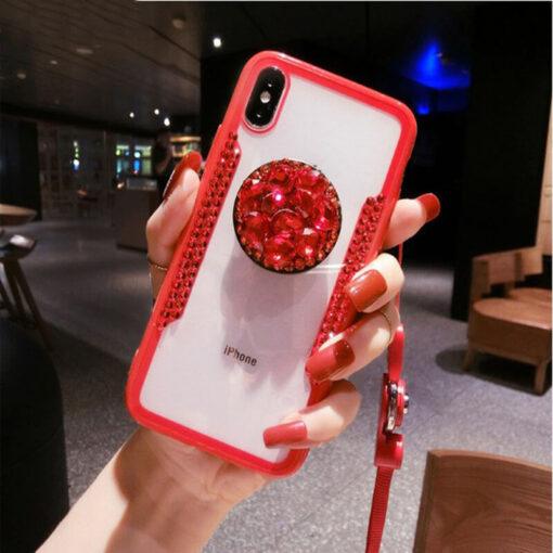 iphone cases, Diamond Airbag Bracket iPhone Case