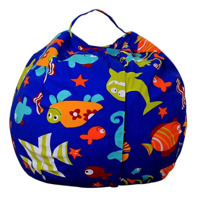 Stupendous Stuffed Animal Storage Bean Bag Portable Kids Toy Storage Bag Spiritservingveterans Wood Chair Design Ideas Spiritservingveteransorg