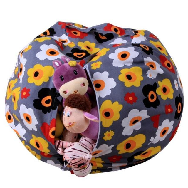 Cool Stuffed Animal Storage Bean Bag Portable Kids Toy Storage Bag Spiritservingveterans Wood Chair Design Ideas Spiritservingveteransorg