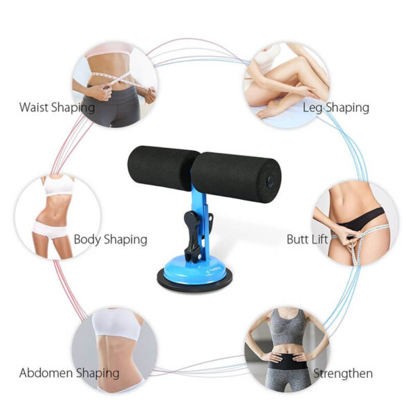 TOMSHOO Self Suction Sit Up Bars Abdominal Core Workout Strength Training Situp Assist Bar Stand Fitness 3 1