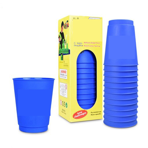 12Pcs Set Speed Cups Game Rapid Game Sport Flying Stacking Holloween Christmas Gift Hand Speed Training 3 2