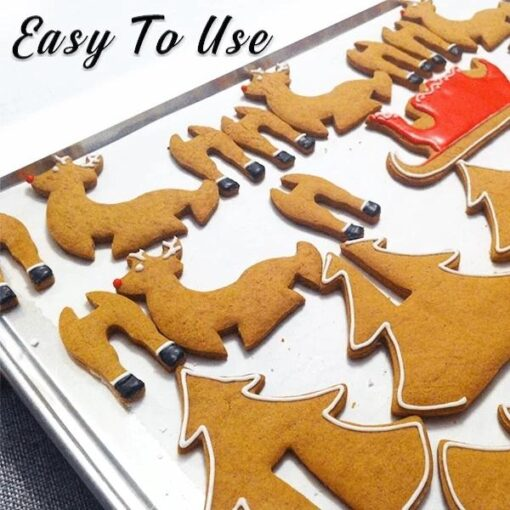 christmas cookie cutters, 3D Christmas Cookie Cutter Set