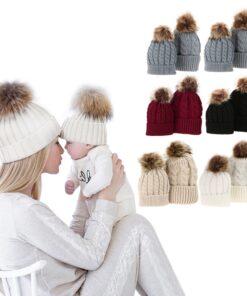 Pom Pom Hats, Mom And Baby Matching Pom Pom Hats