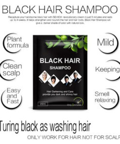 5pcs lot Instant Black Hair Shampoo Make Grey and White Hair Darkening and Shinny in 5 3 1