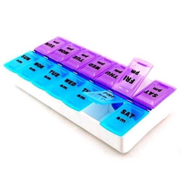 7 Days Pill Case Medicine Storage Tablet Pill Box With Clip Lids Medicine Organizer Pill Case 3