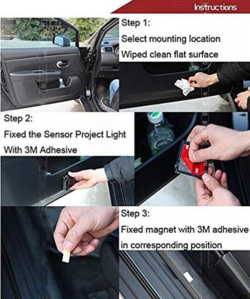 Universal Wireless Car Projection LED Projector Door Shadow Light, Universal Wireless Car Projection LED Projector Door Shadow Light