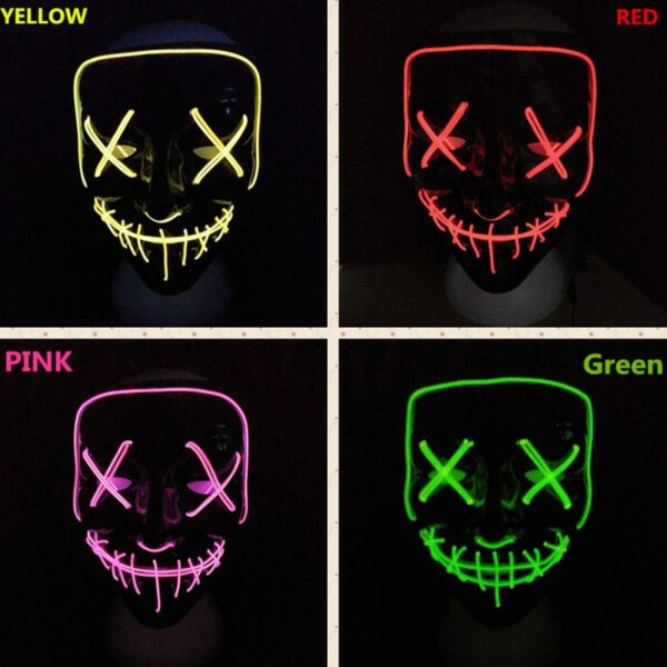Halloween Mask LED Light Up Party Masks The Purge Election Year Great Funny Masks Festival Cosplay 1