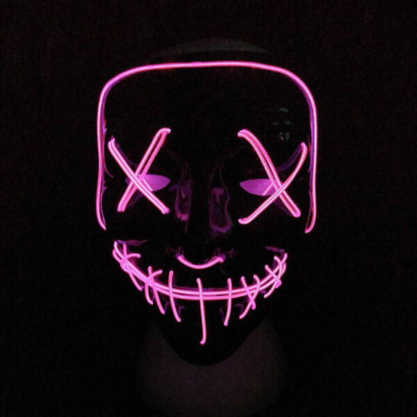 Halloween Mask LED Light Up Party Masks The Purge Election Year Great Funny Masks Festival Cosplay 3