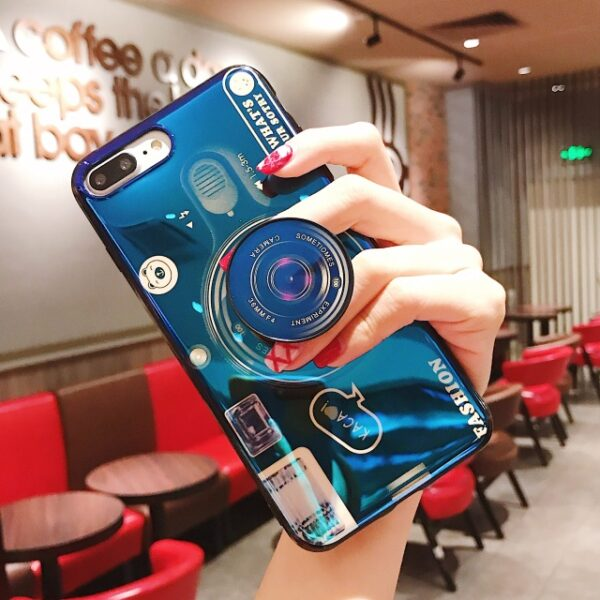 Luxury Blu ray retro camera Phone Cases For iPhone X XS MAX XR 6 6S