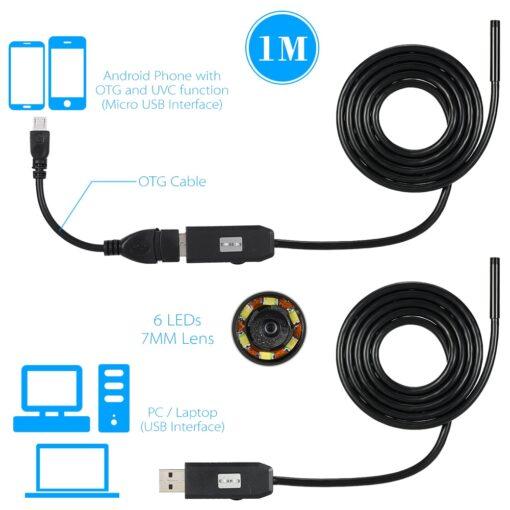 inspection camera, Smartphone Waterproof Endoscope Inspection Camera