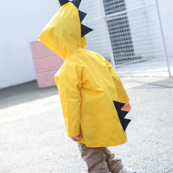 VILEAD Cute Small Dinosaur Polyester Baby Rain Coat Outdoor Waterproof Raincoat Children Windproof Poncho Boys Girls 1