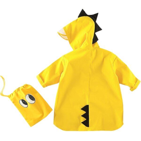 VILEAD Cute Small Dinosaur Polyester Baby Rain Coat Outdoor Waterproof Raincoat Children Windproof Poncho Boys Girls 2