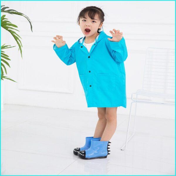 VILEAD Cute Small Dinosaur Polyester Baby Rain Coat Outdoor Waterproof Raincoat Children Windproof Poncho Boys Girls 5