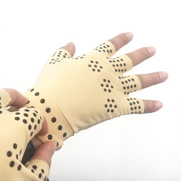 1 Pair Magnetic Therapy Fingerless Gloves Arthritis Pain Relief Heal Joints Braces Supports Health Care Tool 9