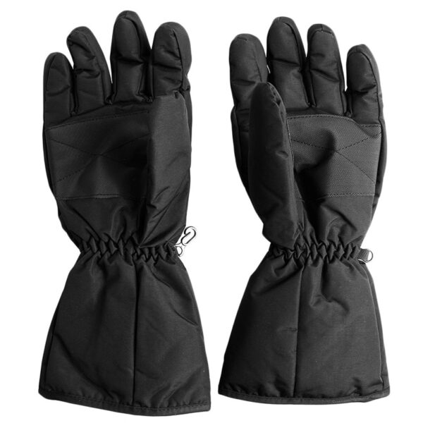 1 Pair Waterproof Heated Gloves Battery Powered For Motorcycle Hunting Winter Warmer No Battery 2
