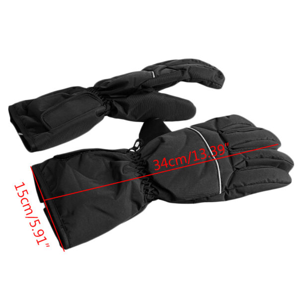 1 Pair Waterproof Heated Gloves Battery Powered For Motorcycle Hunting Winter Warmer No Battery 3