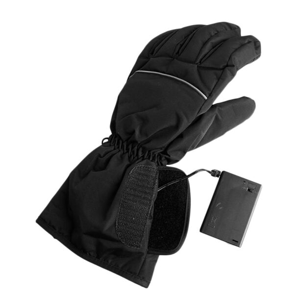 1 Pair Waterproof Heated Gloves Battery Powered For Motorcycle Hunting Winter Warmer No Battery 4