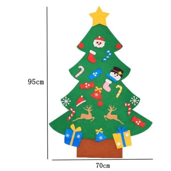1 Set of DIY Christmas Tree Creative Funny Felt Magic Puzzle Craft Toys Decoration for Christmas 1