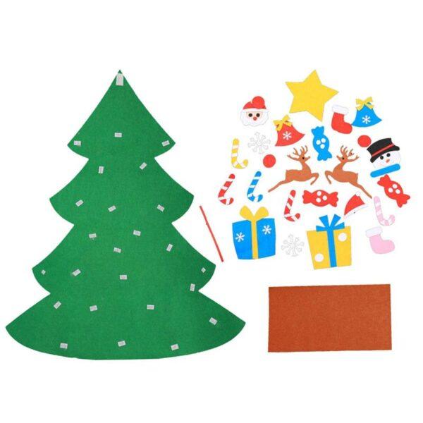 1 Set of DIY Christmas Tree Creative Funny Felt Magic Puzzle Craft Toys Decoration for Christmas 2