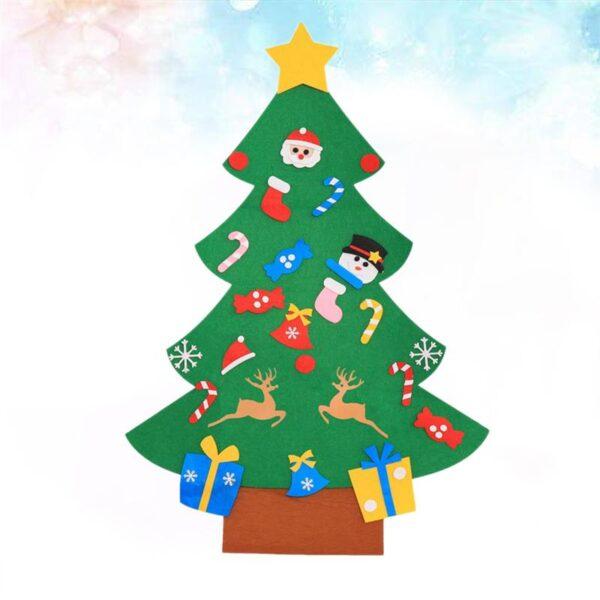 1 Set of DIY Christmas Tree Creative Funny Felt Magic Puzzle Craft Toys Decoration for Christmas 3