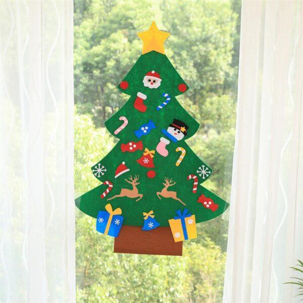 1 Set of DIY Christmas Tree Creative Funny Felt Magic Puzzle Craft Toys Decoration for Christmas 4