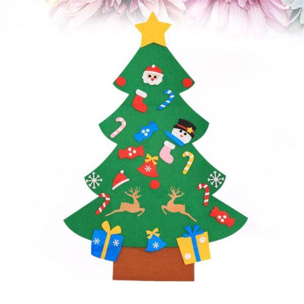 1 Set of DIY Christmas Tree Creative Funny Felt Magic Puzzle Craft Toys Decoration for Christmas 5