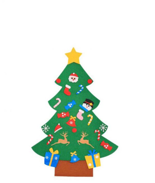 1 Set of DIY Christmas Tree Creative Funny Felt Magic Puzzle Craft Toys Decoration for Christmas 510x510 1