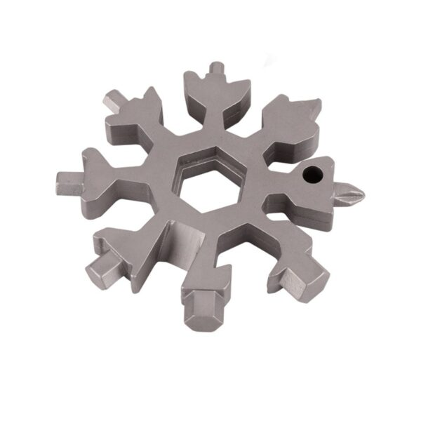 18 in 1 multi tool card combination Compact and portable outdoor products Snowflake tool card 10