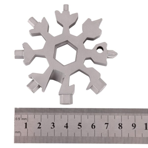 18 in 1 multi tool card combination Compact and portable outdoor products Snowflake tool card 11