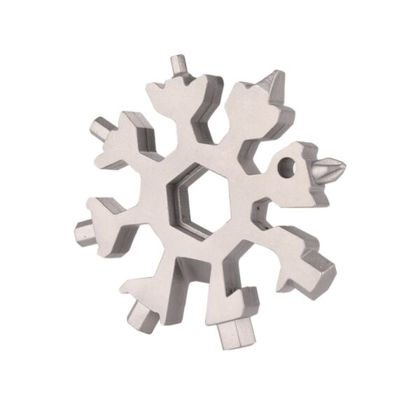18 in 1 multi tool card combination Compact and portable outdoor products Snowflake tool card 9
