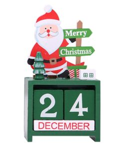 Creative Christmas Countdown Calendar Wooden Ornaments, Creative Christmas Countdown Calendar Wooden Ornaments
