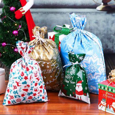 Drawstring Christmas Gift Bags, Drawstring Christmas Gift Bags