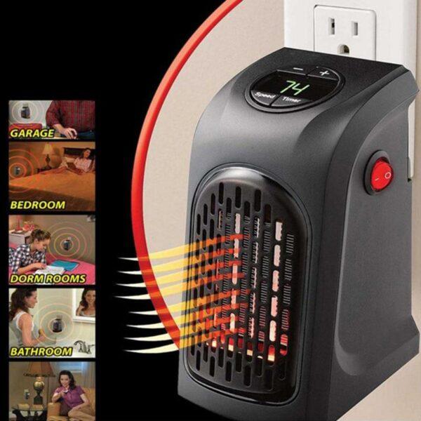400W Mini Fan Heater Desktop Electric Heater Household Wall Handy Heater Stove Radiator Warmer Machine for 5