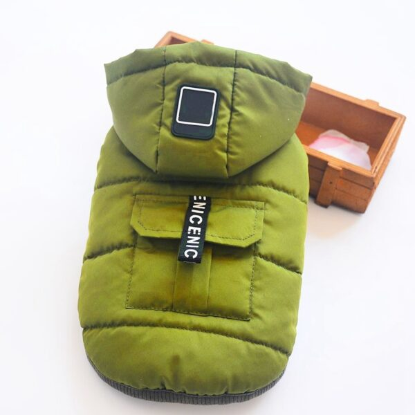 5 Size Pet Dog Coat Winter Warm Small Dog Clothes For Chihuahua Soft Hood Puppy Jacket 5