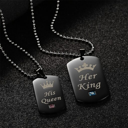 King Queen Necklace, King and Queen Necklace