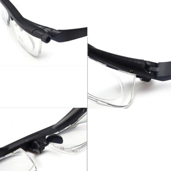 ເລນປັບຄວາມແຮງໃນການອ່ານແວ່ນຕາ Myopia ແວ່ນຕາແວ່ນຕາຕົວປ່ຽນແປງຄວາມຊັດເຈນ 3