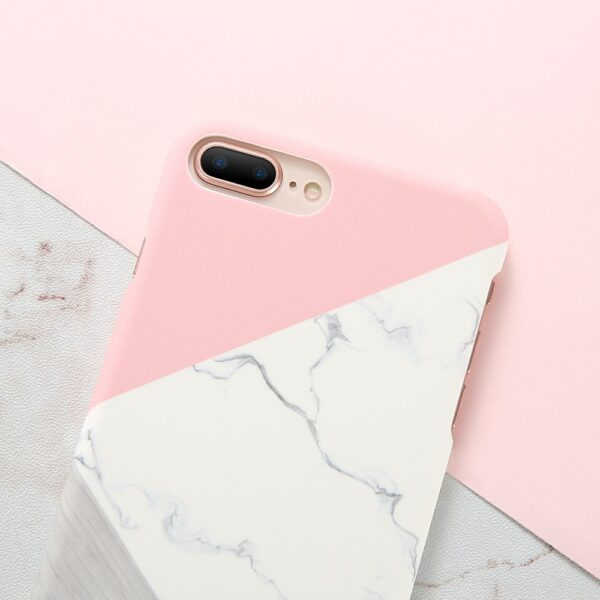 Case For iPhone XS Max XS X 6 7 Plus Case Marble Wood Ultra Slim Hard 3