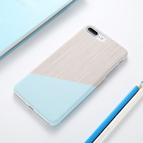 Case For iPhone XS Max XS X 6 7 Plus Case Marble Wood Ultra Slim