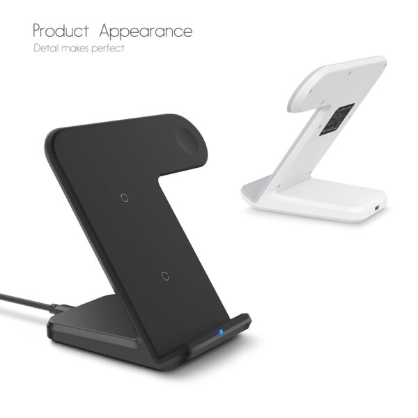 DCAE 2 in 1 Charging Dock Station Bracket Cradle Stand Holder Wireless Charger For iPhone XS 1