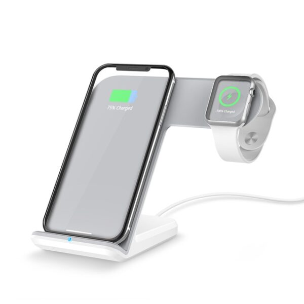DCAE 2 in 1 Charging Dock Station Bracket Cradle Stand Holder Wireless Charger For iPhone XS 1.jpg 640x640 1