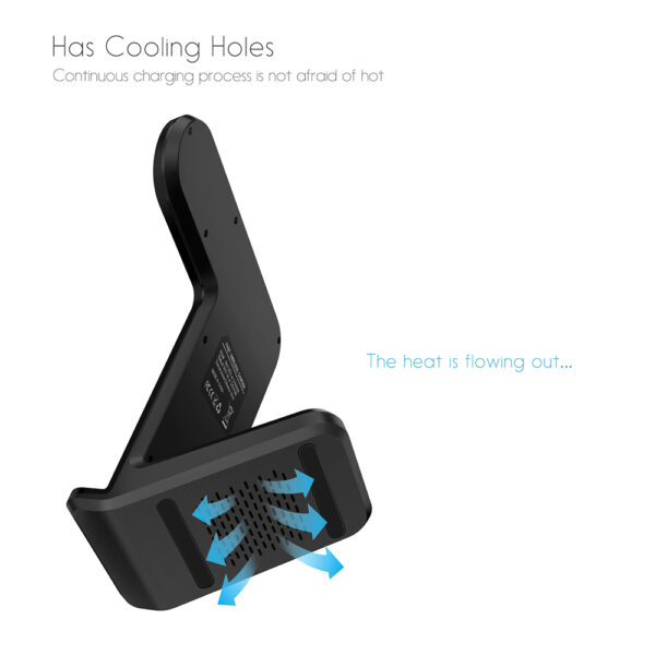 DCAE 2 in 1 Charging Dock Station Bracket Cradle Stand Holder Wireless Charger For iPhone XS 4