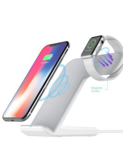 DCAE 2 in 1 Charging Dock Station Bracket Cradle Stand Holder Wireless Charger For iPhone XS 510x510 1