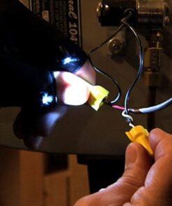 fingerless-led-flashlight-glove, Fingerless LED Flashlight Glove